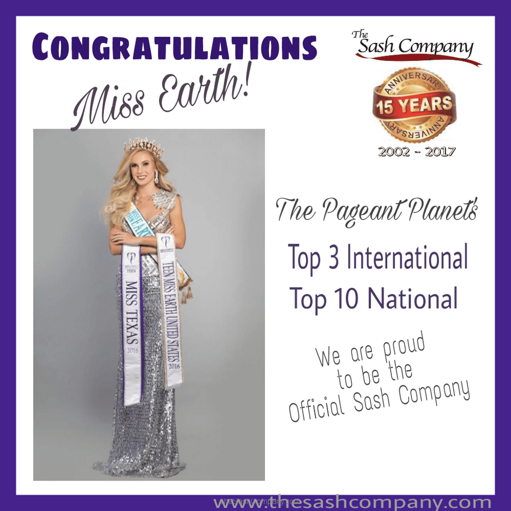 Miss Earth ranks Top 3 International and Top 10 Nationally in 2016
