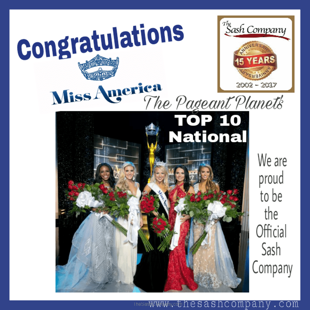 Miss America ranks BEST Top TEN National Pageant for 2016 with The Pageant Planet