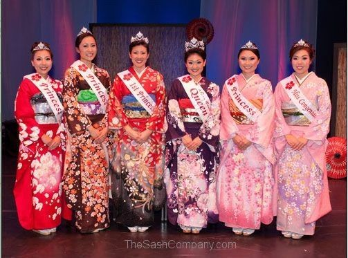 Cherry Blossom Festival Hawaii Queen and Her Court Sashes
