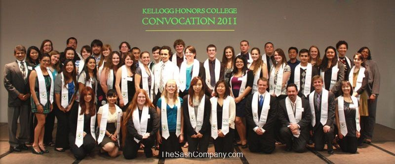 Kellogg Honor College Convocation Stoles