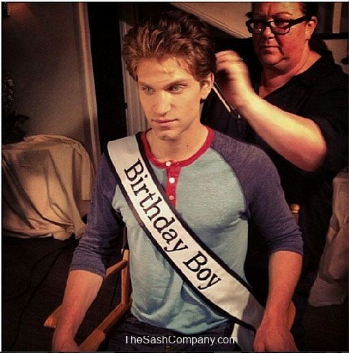 Keegan Allen Pretty Little Liars Birthday Sash