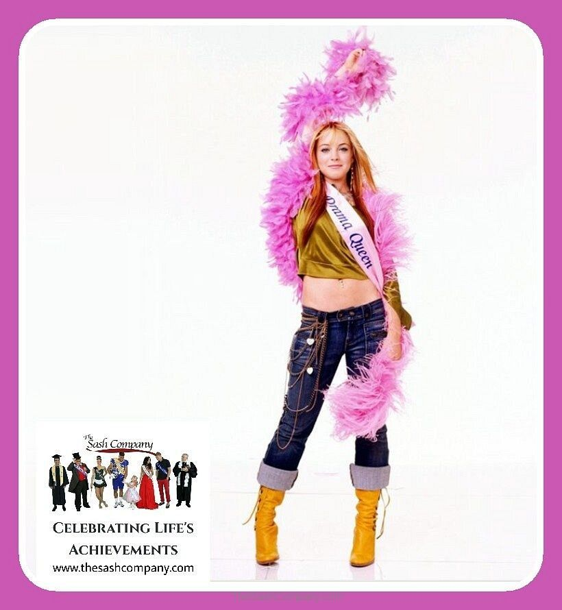 Disney's Confession of a Teenage Drama Queen Movie Sash for Lindsay Logan