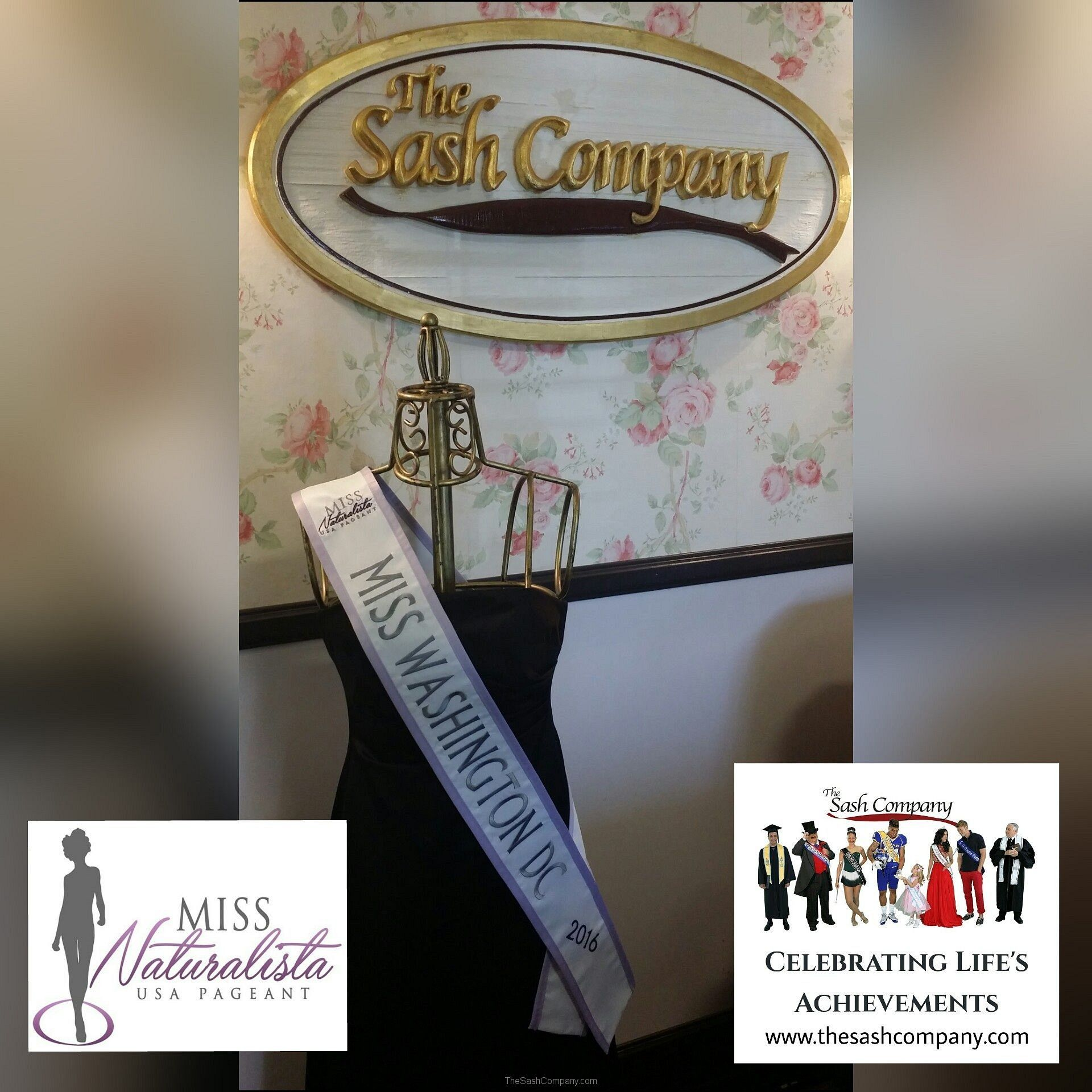 Miss Naturalista USA Pageant Sash