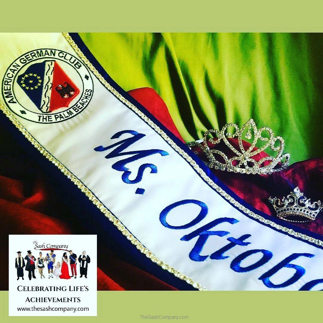 Oktoberest Sash and Crown