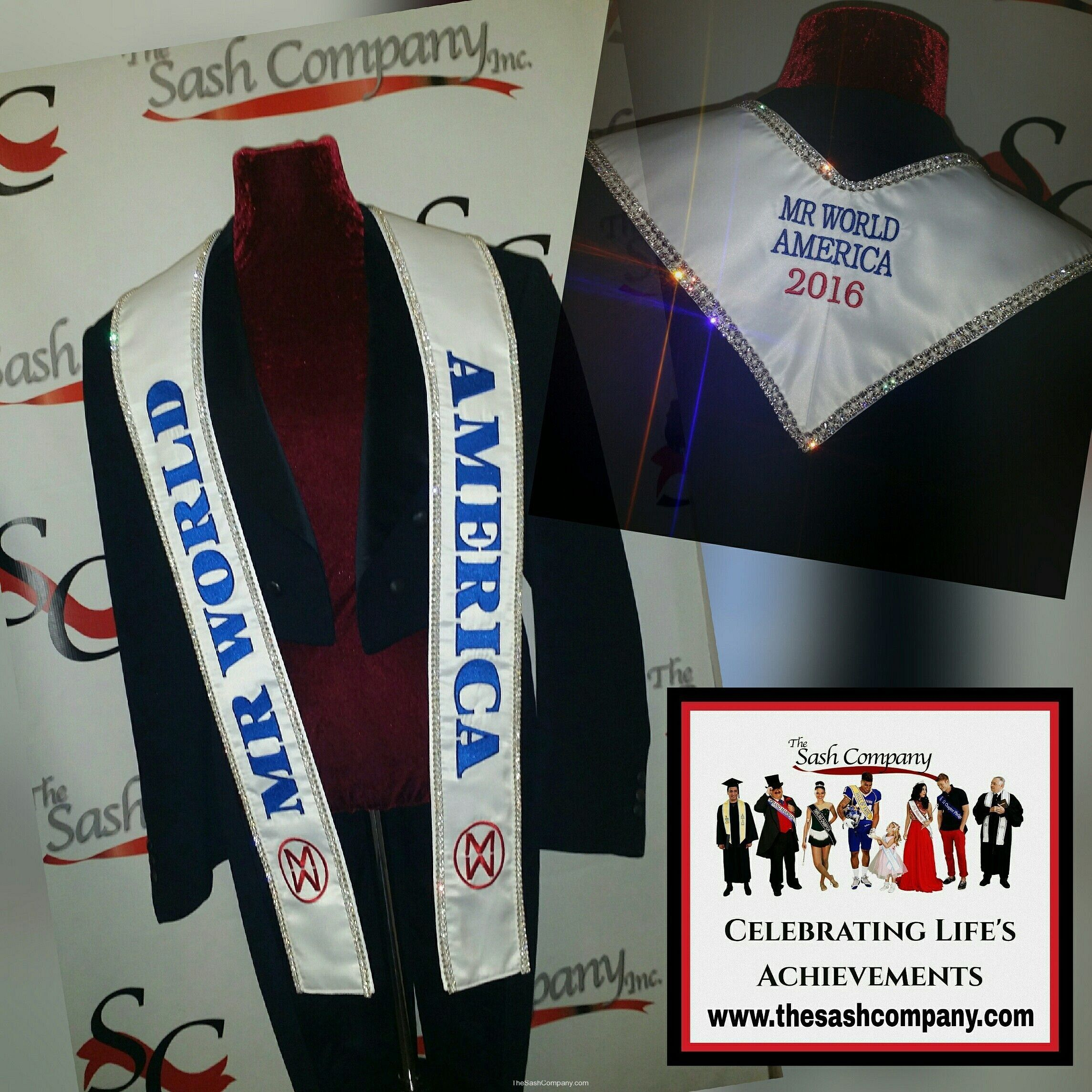 Mr. World America Sash Stole