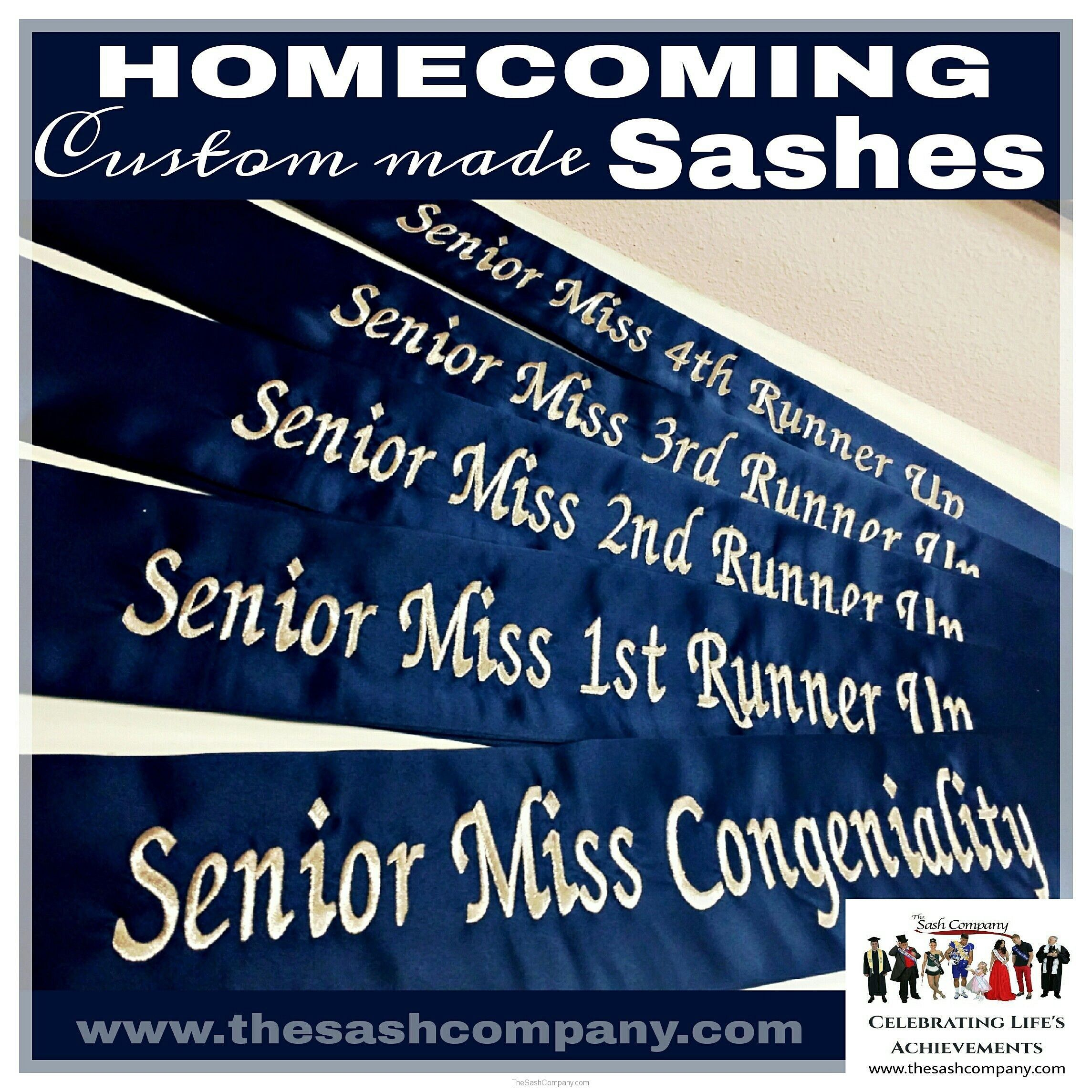 Homecoming Custom Made Sashes