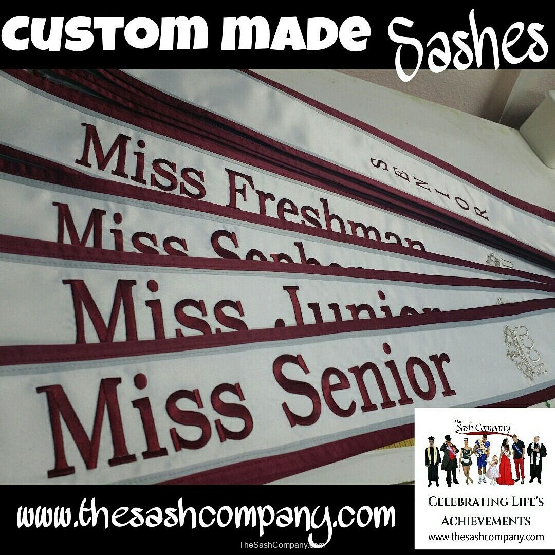 High School and University Custom Made Sashes and Stoles