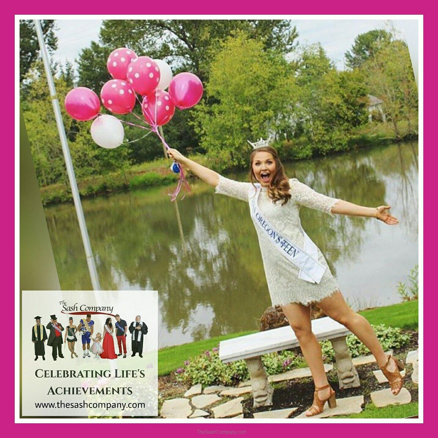 MAOTeen Miss Oregon with Balloons