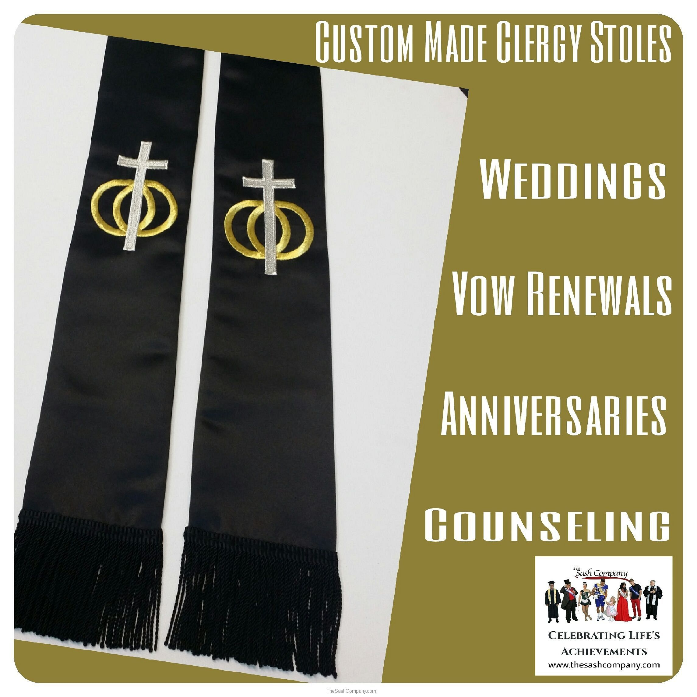 Wedding Clergy Minister Stole