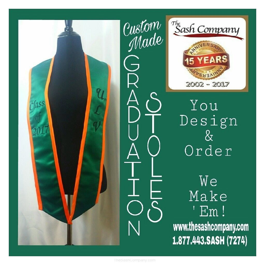 University of La Verne Graduation Sash Stole