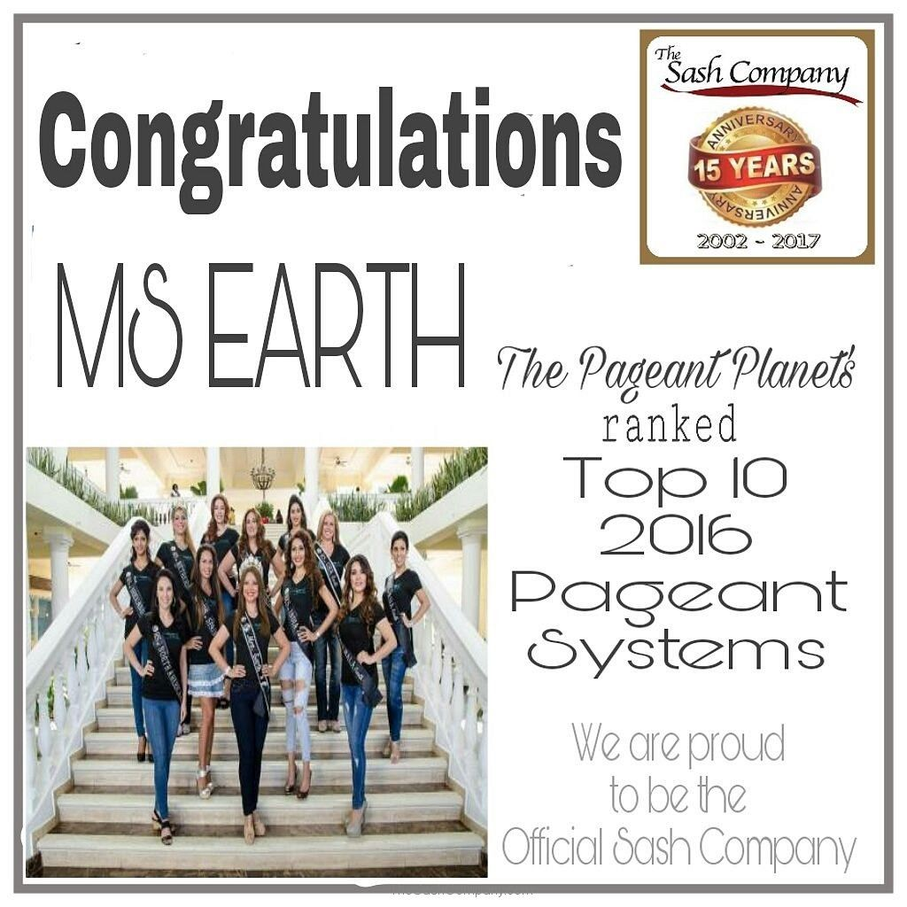 Ms Earth ranked Top 10 Pageant Systems for 2016