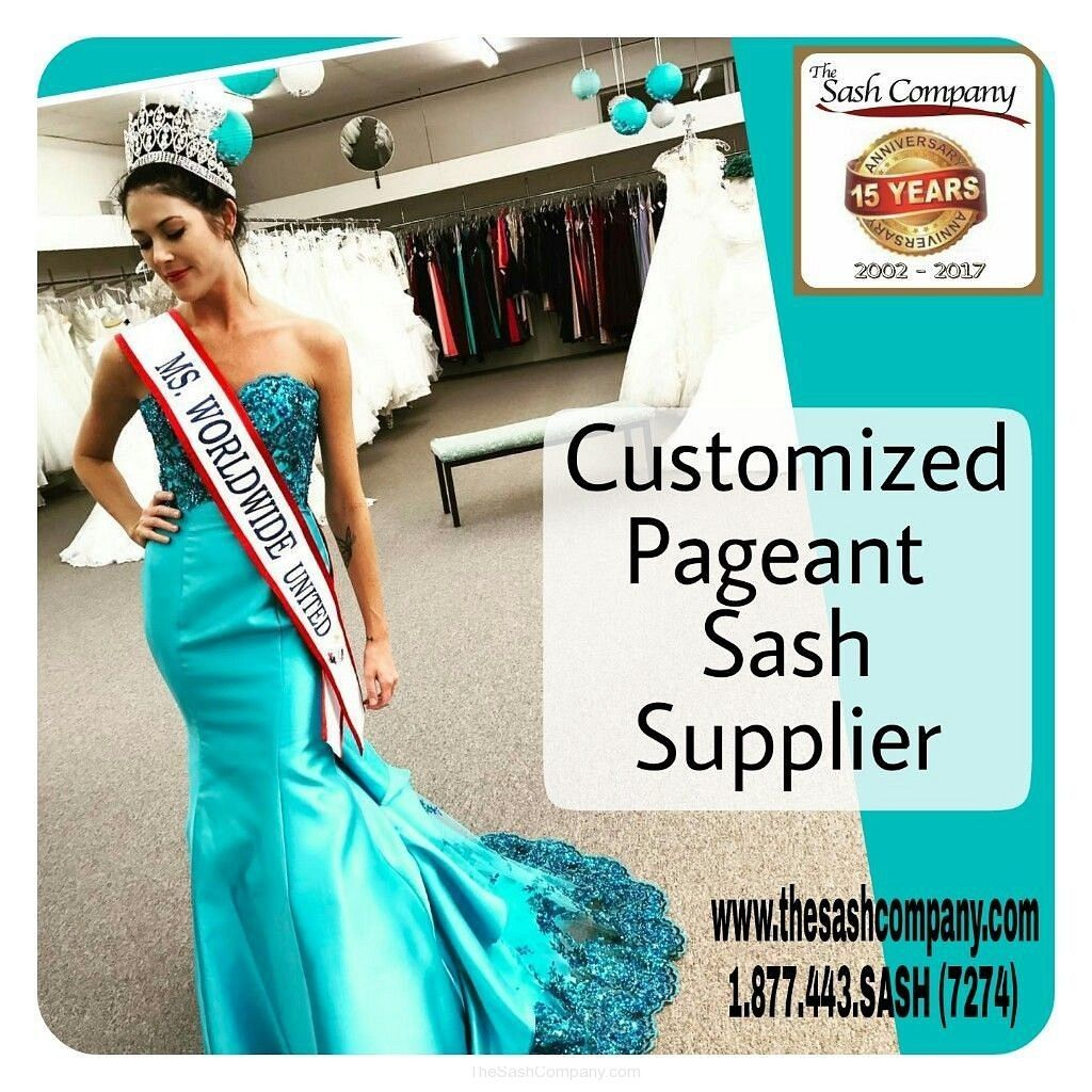 Ms Worldwide United Customized Pageant Sash by The Sash Company