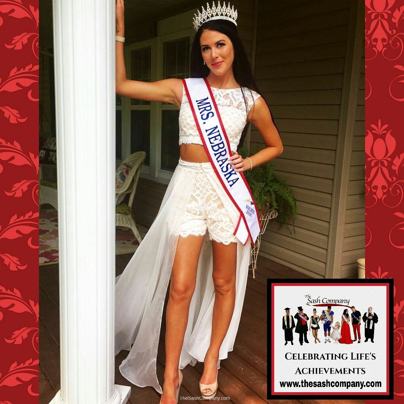 Mrs. Nebraska Pageant Sash