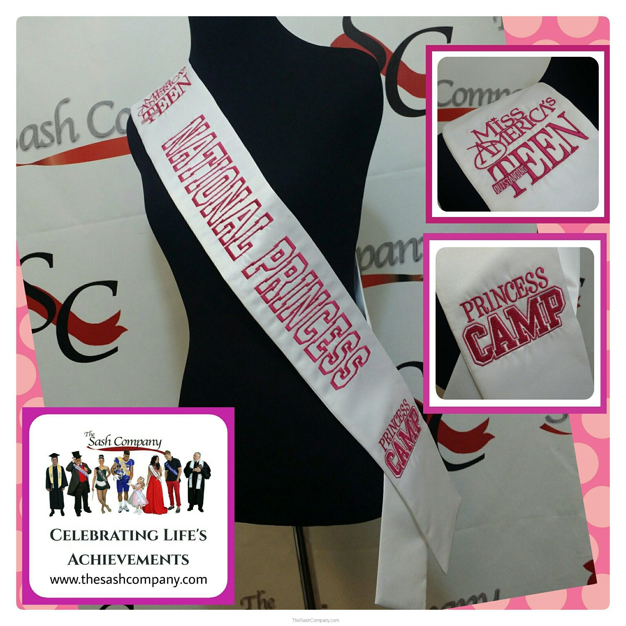 Miss Outstanding Teen National Princess Camp Sashes