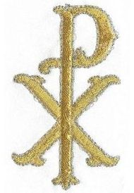 christ name symbol embroidery