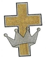 crown cross embroidery