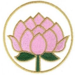 lotus flower embroidery