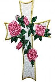 rose cross embroidery