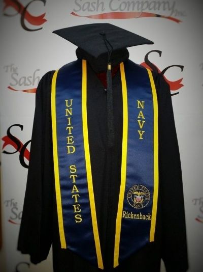 9a6fb2fd United States Navy Stole w/ Personalized Name. grad_stole_us_navy_400w