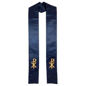 christ_name_symbol_clergy_stole_navy_blue