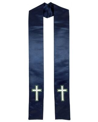 christian_cross_clergy_stole_navy_blue