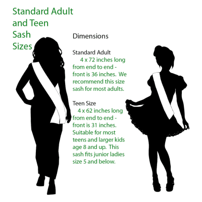 adult-teen-sizing Miss Earth United States Local Sash