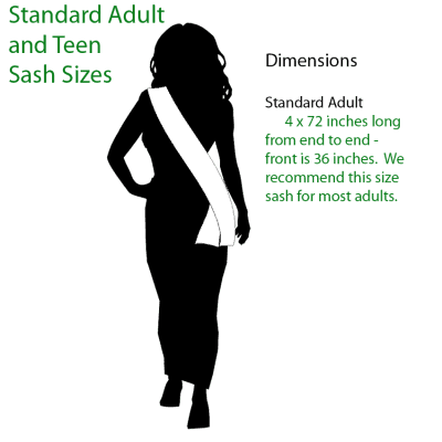 adults-sizing Miss America Official State Sash - Black