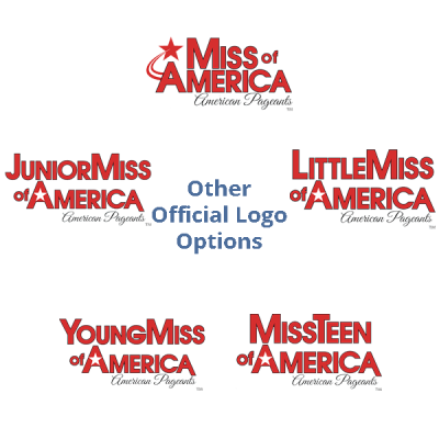 american-pageants-logos-no-border Mouse Pad - Round