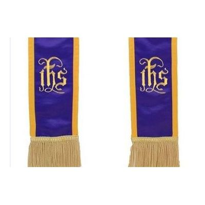 name_of_christ_symbol_-_in_his_service_-_purple_w_gold_border__fringe_2a