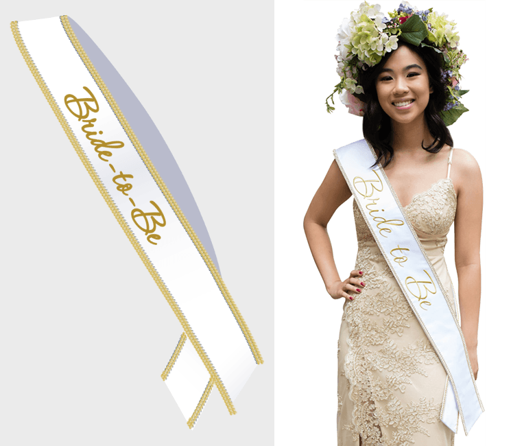 Bride To Be Sash - Gold