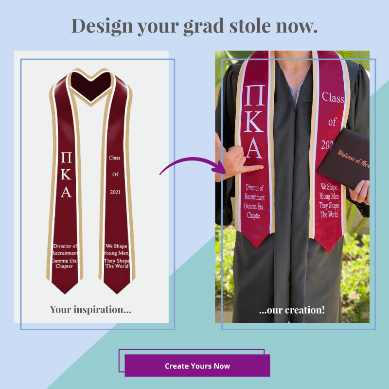 Design your own graduation stole