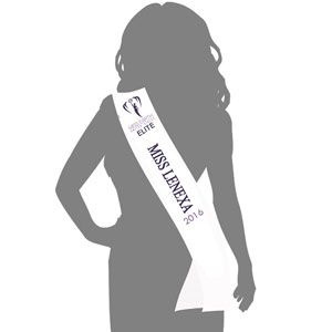 2015 Miss Earth United States LOCAL SASH