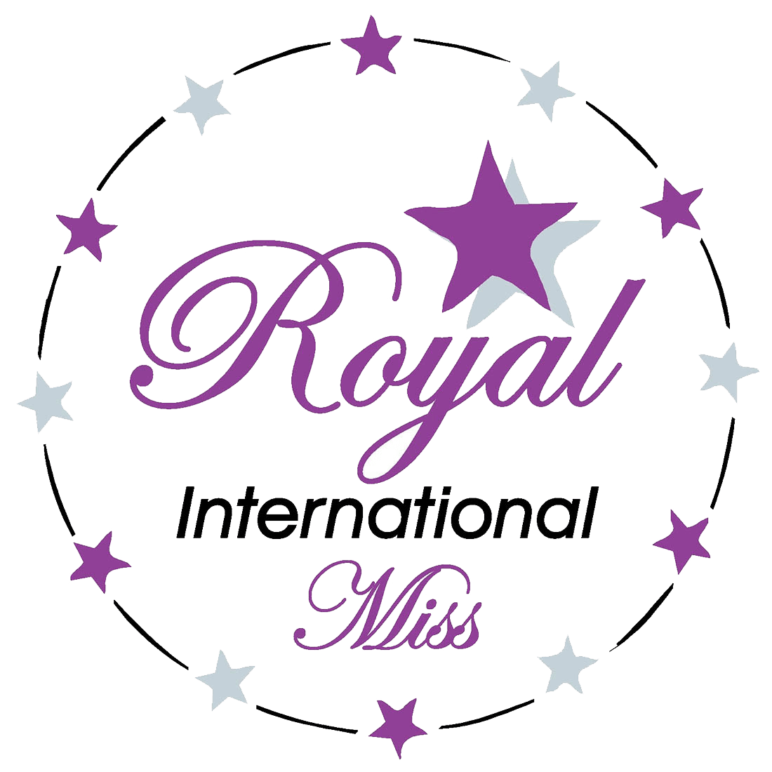royal international miss logo black