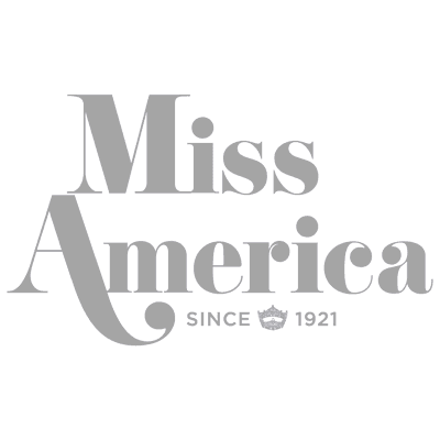 Miss America Logo Square Grey