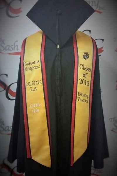 Custom Graduation Stole with Double Border